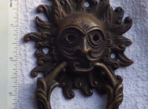 Awesome Vintage Brass Door Knocker.