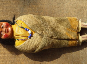9″ Indian Skookum Doll
