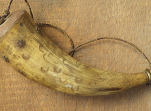 293 Year Old Powder Horn Dated 1724