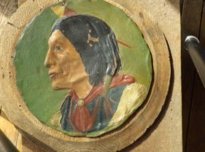 Hand Painted Copper Indian Bust