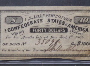 $1000 Confederate States Bond