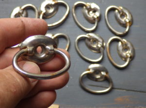 Antique Hardware – 10 Chrome Drawer pulls