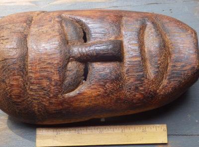 Old Hand Carved Wooden Mask