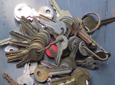 Large Group of Old Keys