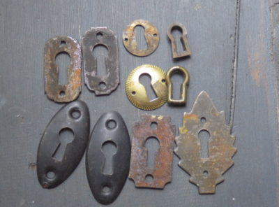10 Old Keyhole Covers