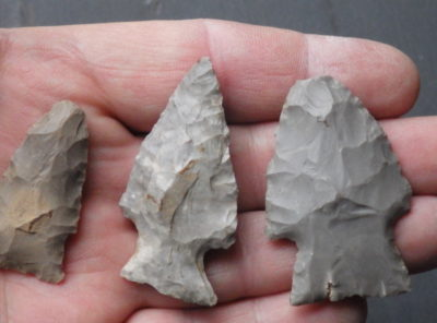 3 Hoosier Native American Arrowheads