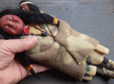 Skookum Doll With Papoose and Beads