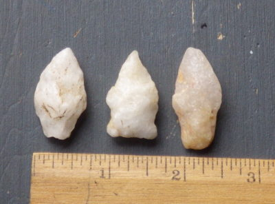 3 Quartzite Native American Dart Points