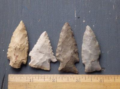 4 Indiana Arrowheads