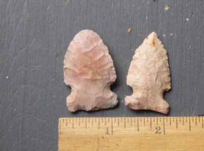 Archaic Native American Side Notched Arrowheads