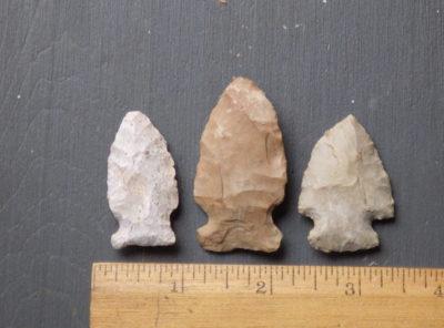 3 Side Notched Arrowheads