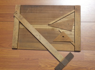 1889 Milton Bradley Drafting Set / Drawing Board