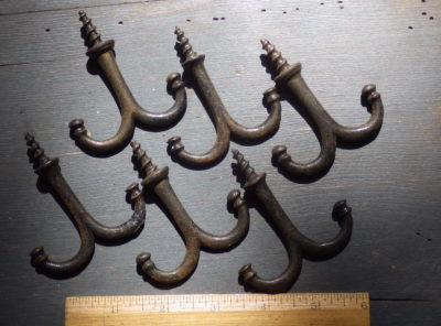 Vintage Hanging Double Coat Hooks